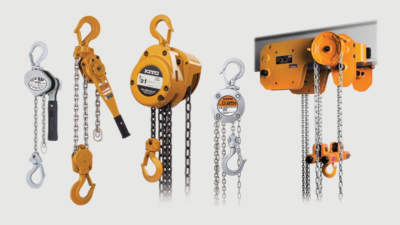 Ръчни тресчотки и верижни лебедки - Hand lever and chain hoists